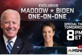 Maddow interviews VP Biden, Thursday, 8pm ET