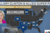 Clinton outspends Sanders in Super Tuesday...