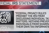 IRS responds to Trump's audit claims