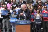 Sanders campaigns hard before Super Tuesday