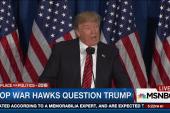 GOP war hawks question Trump