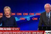 Dem candidates spar over auto, bank bailouts
