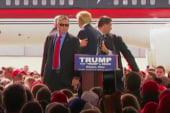Secret Service shield Trump from protester
