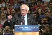 Trump blames Sanders supporters for unrest