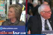 Clinton, Sanders unload on Trump