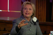Hillary Clinton takes on gun violence