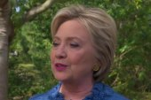 Clinton: I'm pleased with where we stand