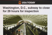 DC Metro system closed all day today