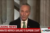 Sen. Schumer responds to SCOTUS nominee