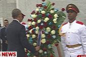Pres. Obama lays wreath at Cuban memorial
