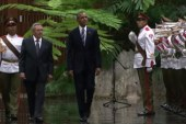 President Obama and Raul Castro make history
