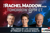 Live primary coverage follows Tuesday's show
