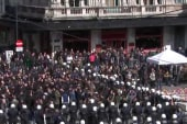 Extreme right wing group marches in Brussels