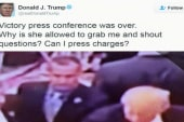 Trump tweets 'Can I press charges?'