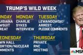 Trump completes roller-coaster week