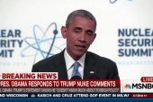 Pres. Obama responds to Trump's nuke comments