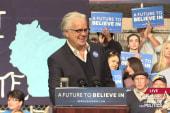Tim Robbins stumps for Bernie Sanders