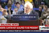 Sanders: Clinton not qualified for president