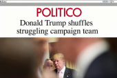 Trump makes shift in staff...and in his tone?