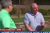 Sanders looks to Woodstock to gain ground...