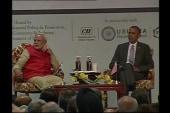 Obama speaks in India