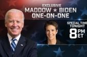 Maddow interviews VP Biden Thursday, 8pm ET