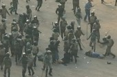 Woman dragged, beaten by Egyptian soldiers