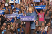 Clinton celebrates 'another Super Tuesday'