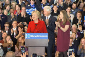 Clinton breathing 'sigh of relief' on...