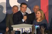 Ted Cruz celebrates Iowa caucus victory