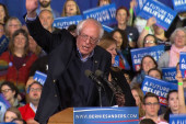 Sanders fires up Vermont crowd with speech