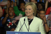 Clinton addresses supporters on Super Tuesday