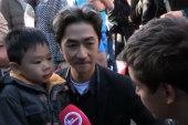 Father explains Paris terror attacks to son