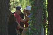 Obama and Clinton ran into each while golfing