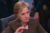 Clinton quick to rebut conflict questions