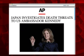 Japan investigates Kennedy death threats