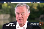 Larry Pressler runs from his record