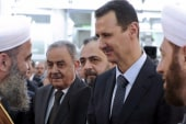 Assad makes rare public appearance