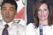 Bachmann, Perry vie for conservatives