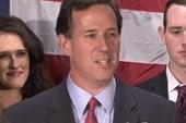 Santorum's tepid endorsement, Lugar at risk