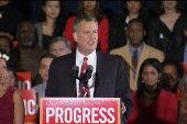 De Blasio turns New York progressive