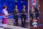 Weiner, Quinn spar at NYC mayoral debate