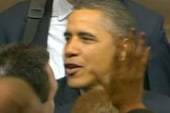 While at Boeing Obama dials up talk of...