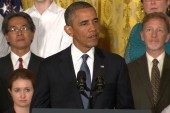 President Obama speaks on the Affordable...