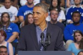 Obama showcases college initiatives