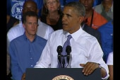 Obama continues on the road, lays out...