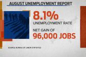 Candidates spin new unemployment report