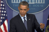 Obama: Let's lift these threats, get to work