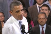 Obama interrupted by immigration protester