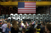 Obama, Dems tout strong jobs report